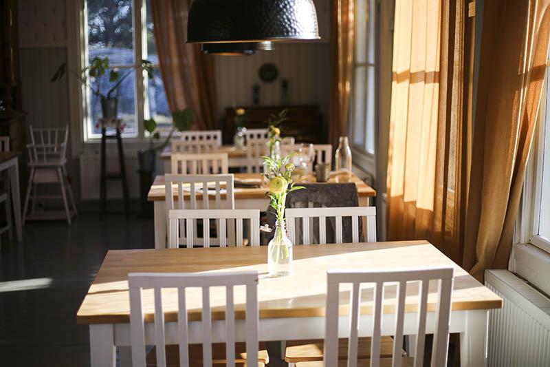 Beautiful light in Hotel Hyppeis Restaurant